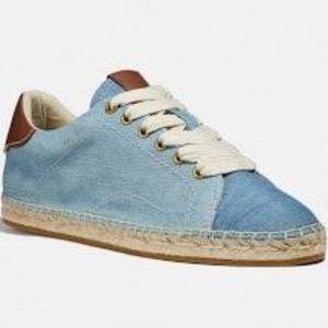 Coach C101 low top Espadrille Sneaker in Denim